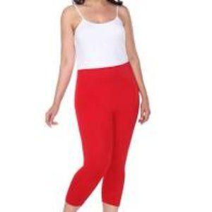 Cynthia Rowley Woman Red Capri Elastic Waist Pants
